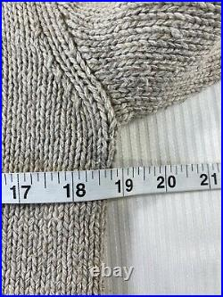 Polo Ralph Lauren RL67 USA American Flag Mock Neck Sweater Beige NWT Womens XS
