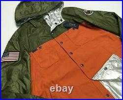 Polo Ralph Lauren Reversible USA Flag Colorblocked Windbreaker Sportsmen Jacket