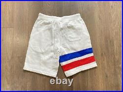 Polo Ralph Lauren USA American Flag Bear Fleece Shorts White NWT Mens L