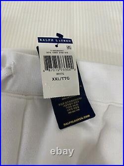 Polo Ralph Lauren USA American Flag Bear Fleece Shorts White NWT Mens XXL