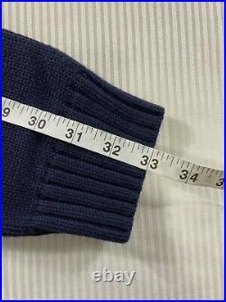 Polo Ralph Lauren USA American Flag Crewneck Knit Sweater Navy NWT Mens XL