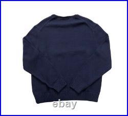 Polo Ralph Lauren USA American Flag Crewneck Knit Sweater Navy NWT Mens XXL