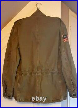 Polo Ralph Lauren USA Flag American Military Field Army Jacket M