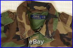 Polo Ralph Lauren Unisex M65 USA Army Camo American Flag Skull Bomb Jacket sz M