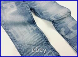 Polo Sport Ralph Lauren Slim Straight Jeans American Flag 1992 RL67 USA 42 x 34