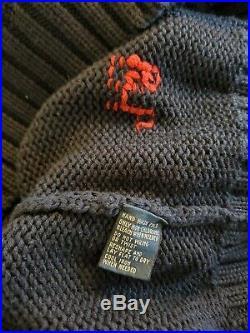 Polo by Ralph Lauren USA American Flag Mens Large Cotton Crewneck Sweater RL EUC