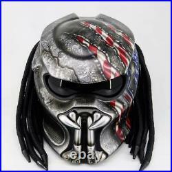 Predator DOT Approved American Flag Patriotic Motorcycle Helmet USA