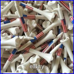 Pride Evolution USA American Flag 2 3/4 2.75 Golf Tees White You Choose the #