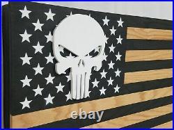 Punisher Skull American Flag Gun Concealment Cabinet Hidden Firearm Storage Safe