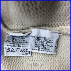 RALPH LAUREN ICONIC Polo Vintage Wool Jumper USA American Flag CREAM XL