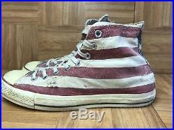 RARE Converse John Varvatos CT AS Vintage Distressed American Flag Sz 8.5 USA