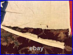 RARE GIANT Antique American Bunting USA Stars Vintage Cloth Fabric Flag Banner