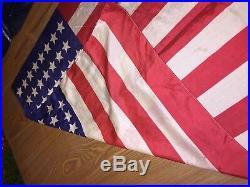 RARE SILK US USA Flag straight 45 Stars 1898 Spanish- American War Era 25x33 apr
