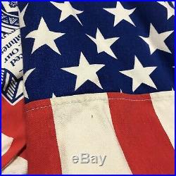 RARE Vintage Budweiser American Flag Jacket Sz XL Licensed Anheuser Busch USA
