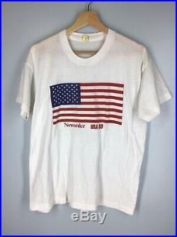 RARE Vintage New Order 1989 USA Tour American Flag Tee Shirt XL Extra Large EUC