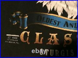 RARE Vtg 1986-88 3D Harley T-Shirt / XL / Signed / Eagle Flag / B. H. Sturgis