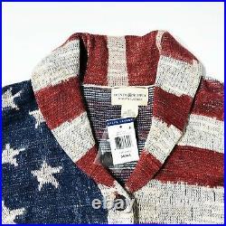 Ralph Lauren Denim & Supply Cardigan Sweater Patriotic American Flag Small S/P