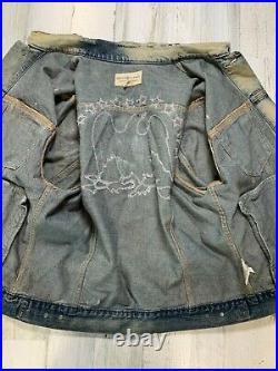 Ralph Lauren Denim & Supply Denim Jacket Size XL Eagle USA American Flag