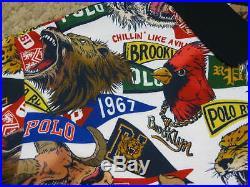 Ralph Lauren P. R. L. 67 Phys Ed Brooklyn NY Animal Print Polo Shirt Men 4XL 5XL