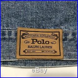 Ralph Lauren Polo American Flag Denim Jacket Rare Vtg Vintage Jean USA Medium