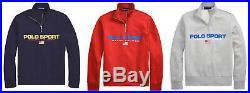Ralph Lauren Polo Sport Half Zip American Flag Fleece Sweatshirt New $125