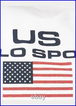 Ralph Lauren Polo Sport White Canvas 1967 USA Flag Duffle Bag New $250