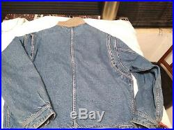 Rare TOMMY HILFIGER Vintage Denim American Flag USA Lined Jean Jacket Sz L