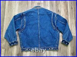 Rare TOMMY HILFIGER Vintage Denim American Flag USA Lined Jean Jacket Sz S