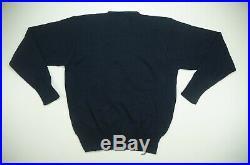Rare VTG POLO RALPH LAUREN Spell Out USA Flag Knit Sweater 90s Stadium Navy SZ M