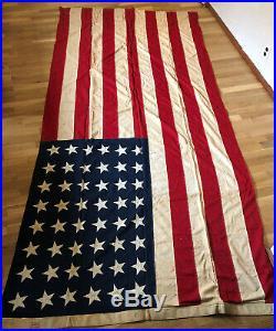 Rare Vintage Defiance Antique 48 Star U S Flag 5ft By 9ft