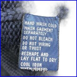 Rare Vintage POLO RALPH LAUREN American USA Flag Sitting Bear Sweater 90s Medium