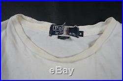 Rare Vintage POLO RALPH LAUREN USA Flag Spell Out Sleeve T Shirt 90s Stadium XL