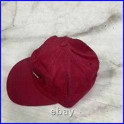 Rare Vintage POLO SPORT Ralph Lauren Spell Out USA Flag Hat Cap 90s Red