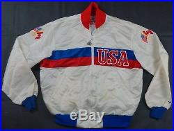 Rare Vintage STARTER USA American Canada Flag 1984 Olympics Satin Jacket 80s XL