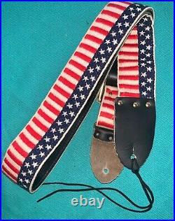 Rare Vtg Renegade American Flag ACE Style Woven Guitar Strap Made in USA