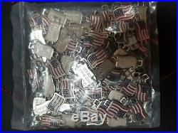 Red Wing Shoes USA American Flag Boot Lace/Shoe Keeper Charms