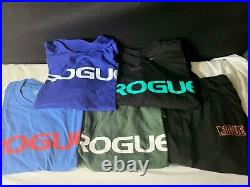 Rogue Fitness T Shirt Lot of 5 Size L Tees American Flag and Frankenstein VGC