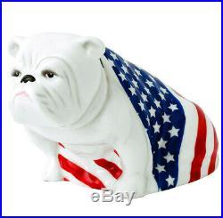 Royal Doulton Bulldog SAM Figurine DD004 USA American Flag New In Box