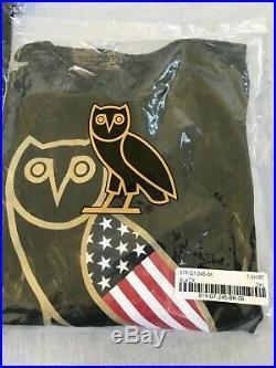 SIZE XL & XXL OVO Chicago OG Gold & Black/White Owl Tee USA American Flag Tee