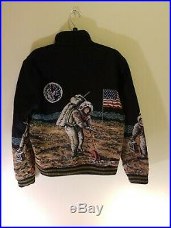Saint laurent astronaut moon jacket Coat neil Armstrong size 48 used USA flag