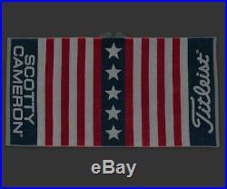 Scotty Cameron Titleist USA Open Stars And Stripes American Flag Towel Rare PGA