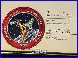 Space Flown American USA Flag NASA Atlantis Shuttle STS-37 5x4 4-5-1991