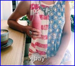 Spell Designs Gypsy Boho Retro Vintage USA America Flag Tank Tee T-shirt Euc S