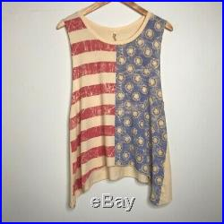 Spell & The Gypsy Collective Free People USA American Flag Singlet Tank Top L
