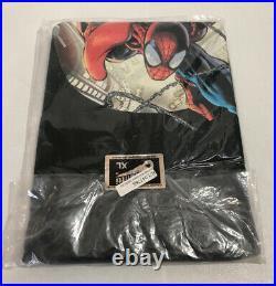 Spider Man Graphitti Designs Marvel Mens XL Graphic Tee T-Shirt 2004 Vintage HTF