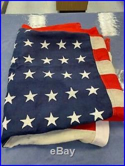 Sterling vintage large USA American Flag 48 stars all wool bunting 6' x 9
