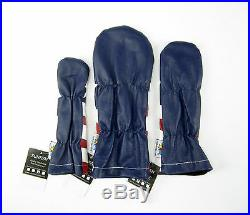 Sunfish The Liberty Leather golf headcover set DR, FW, HB USA American flag