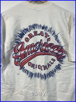 Taz USA T Shirt Vintage 90s All Over Print American Flag Looney Tunes Size XL