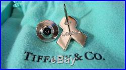 Tiffany & Co. USA Enamel Flag Ribbon Pin American Lapel Sterling Silver 925 NEW