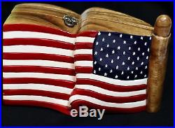 Timmy Woods Patriotic USA Flag American Pride Pledge Bag Purse Minaudiere Clutch